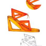 Geometric sandals